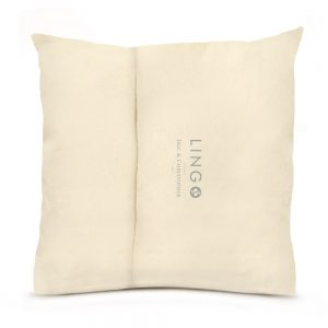 Lingo large pillow back