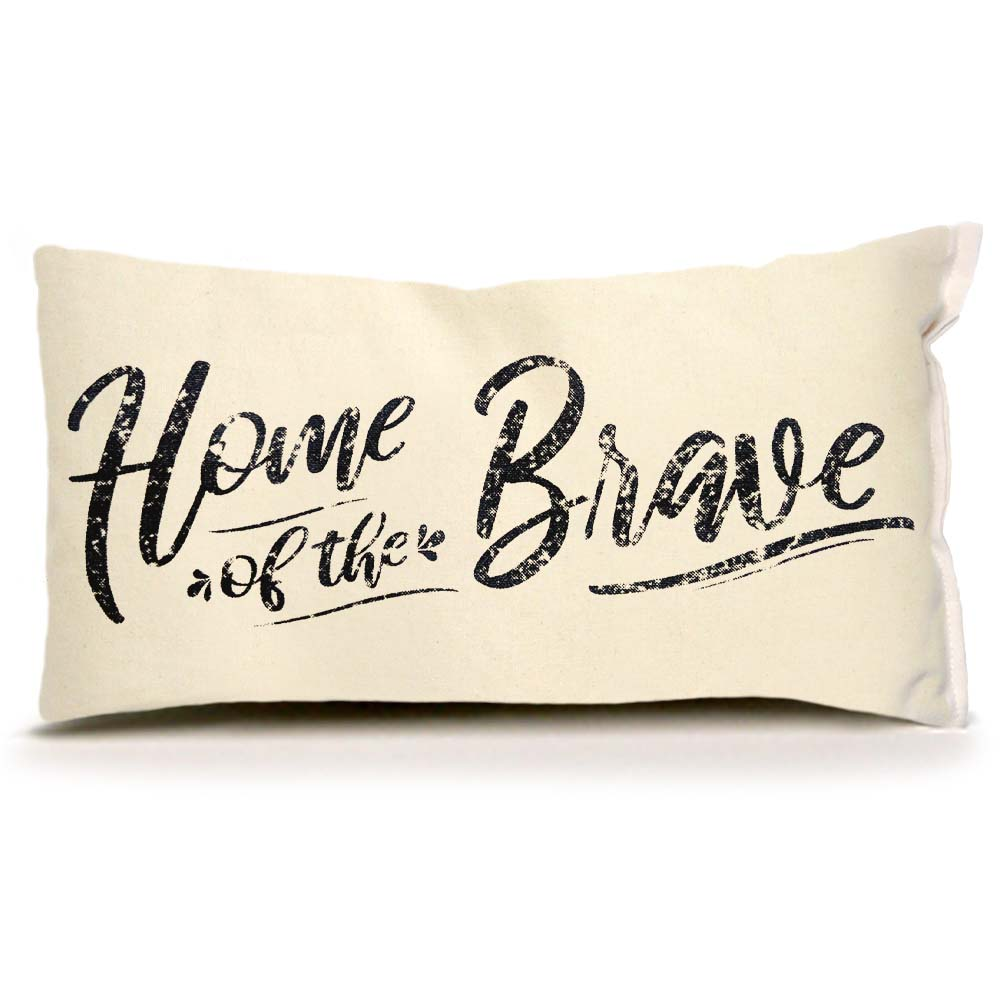 Eric and Christopher_Home of the Brave_Small Pillow