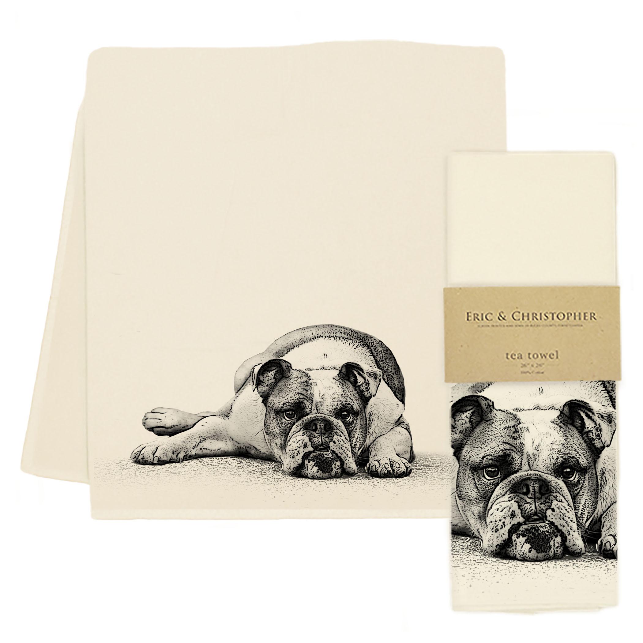 Bulldog #2 Tea Towel